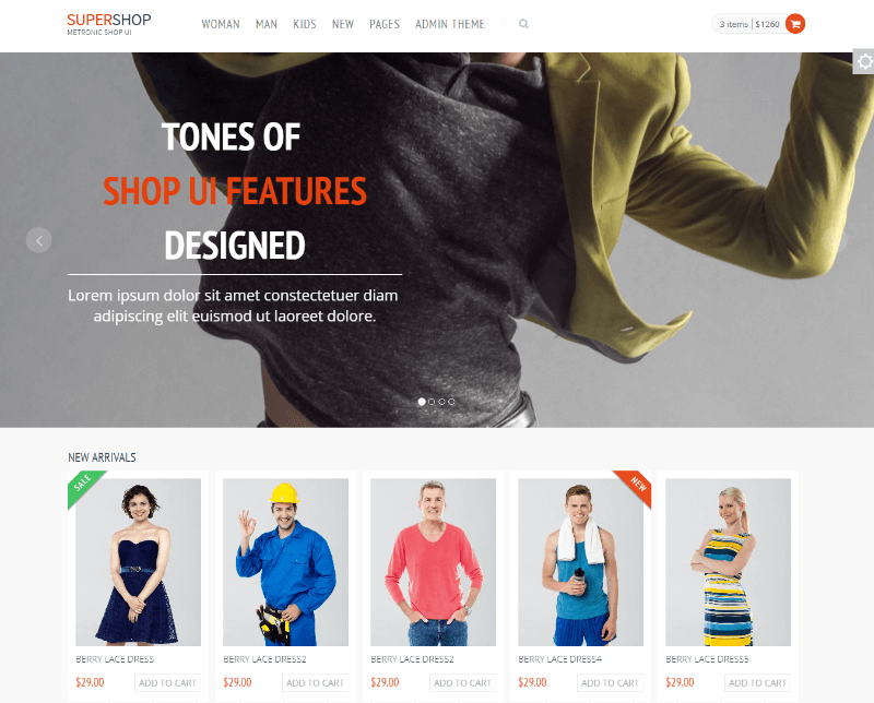 Supershop - Free Responsive eCommerce Shop Bootstrap Template