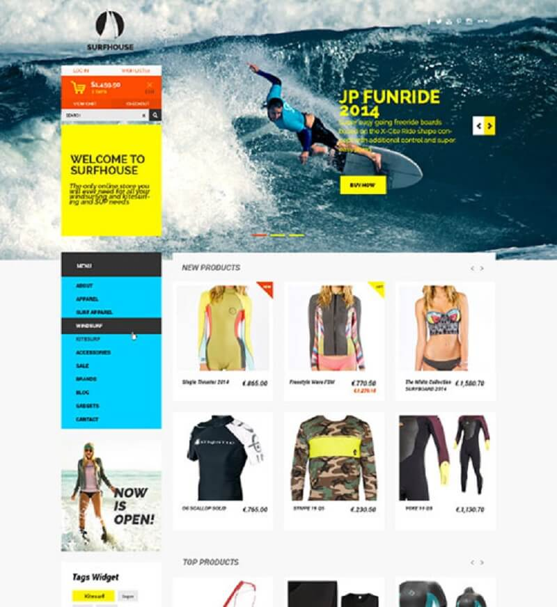 Surfhouse Free Psd ECommerce Template