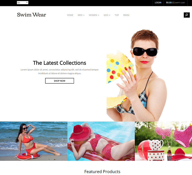 Swim Wear a Flat Ecommerce Bootstrap Responsive Web Template
