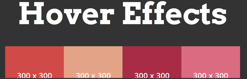 The CSS Hover Effects