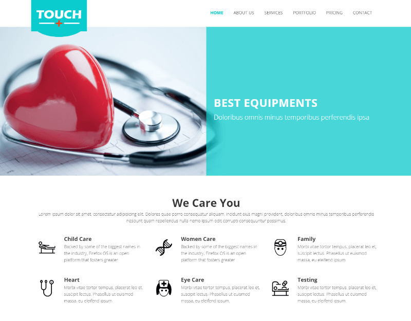 Touch Hospital Medical Bootstrap HTML5 Template