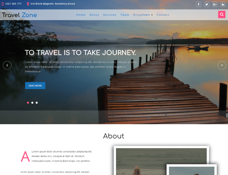 Travel Zone a Travel Category Bootstrap Responsive Web Template