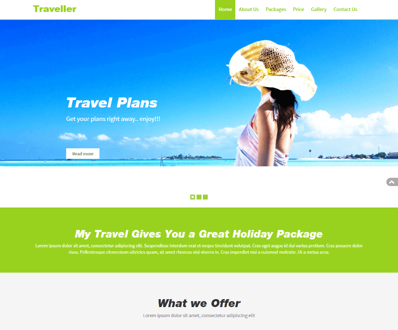 traveller bootstrap responsive web template