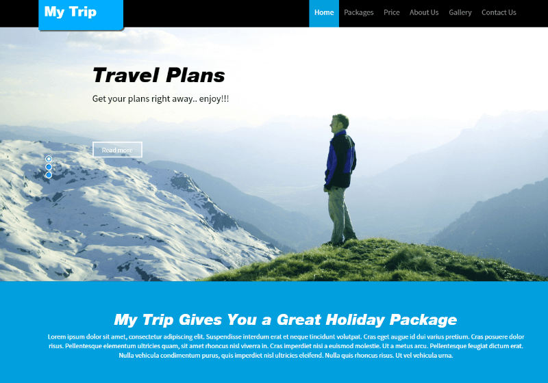 Traveller Responsive Web Template – My Trip