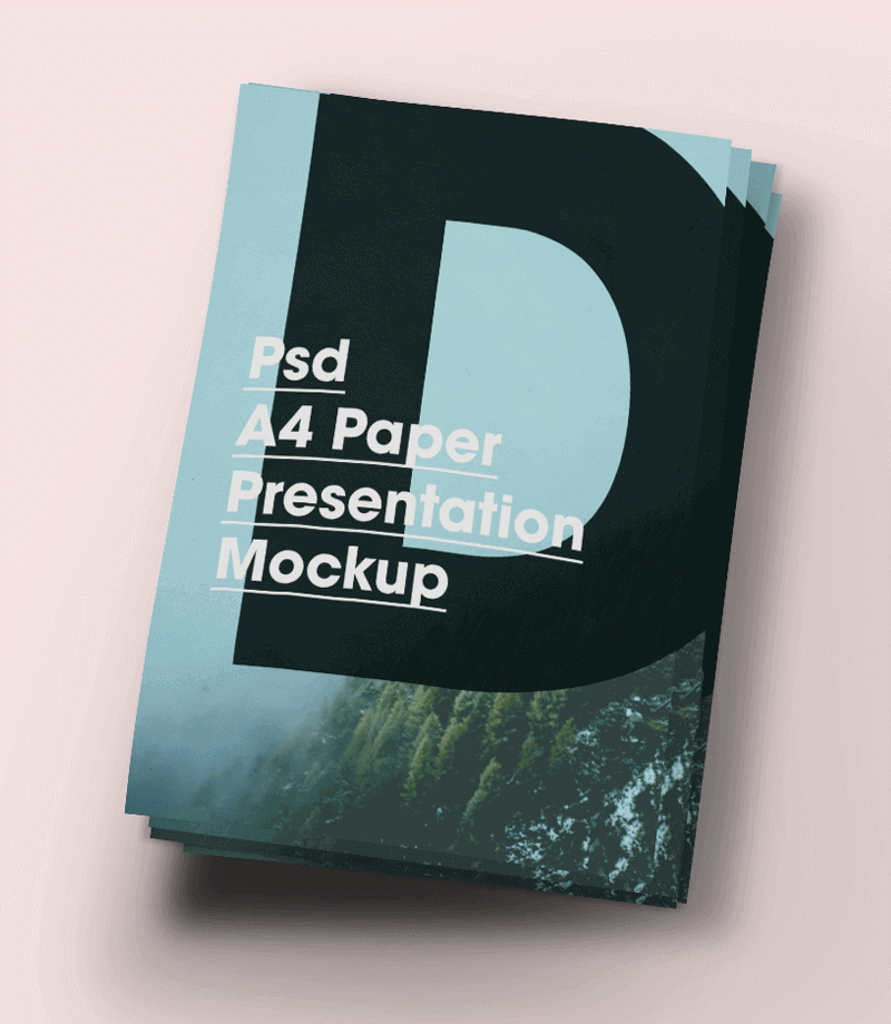 Free A4 Paper Brochure/Flyer Mock-Up PSD