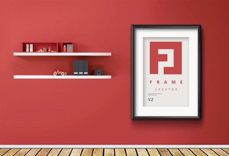 Wall Poster Frame PSD MockUp