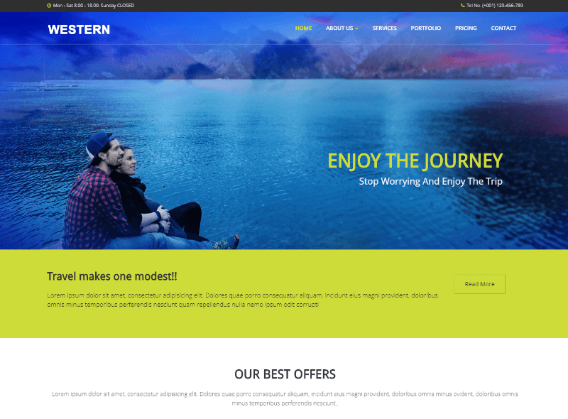 Western Travel Agency HTML Responsive Web Template