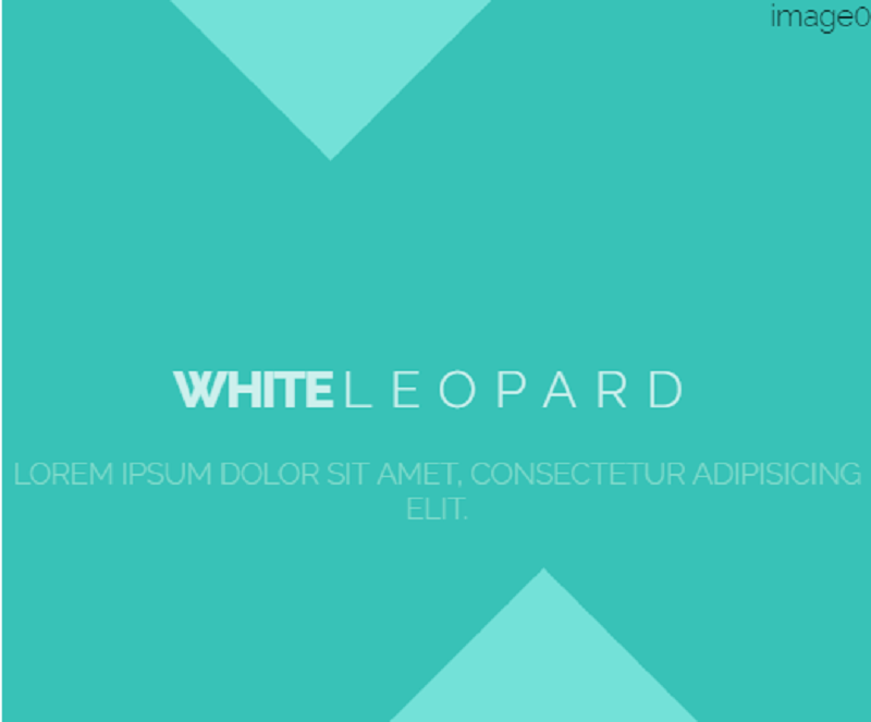 White Leopard Css Hover Effect