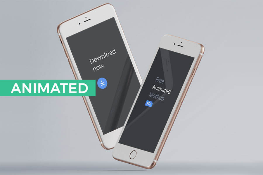 Animated (PSD to GIF) iPhone Mockups