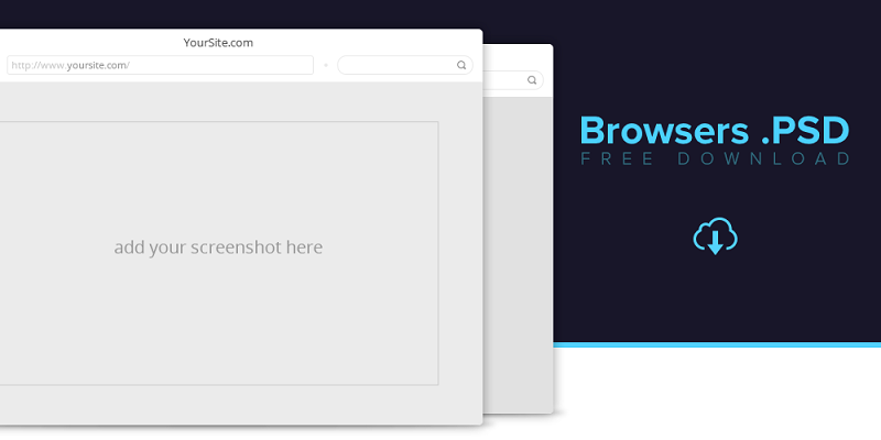 Browsers PSD Freebie.