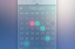 Free Calendar PSD Templates