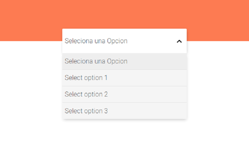 Custom Select An Option
