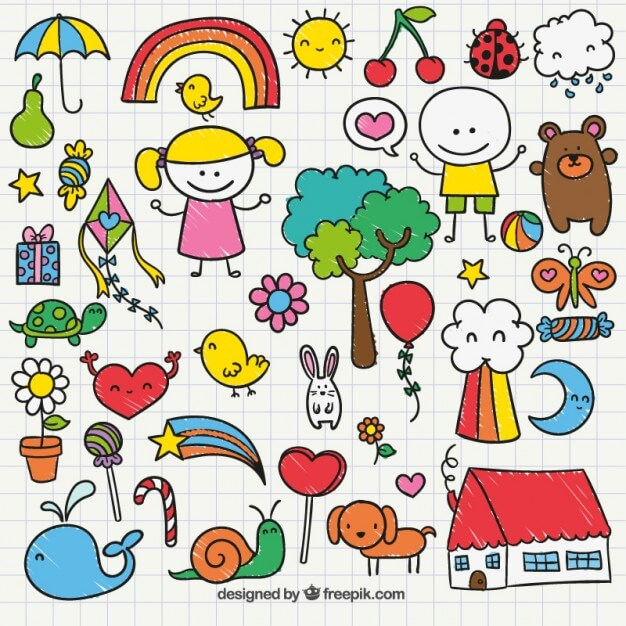 Cute childrens drawing