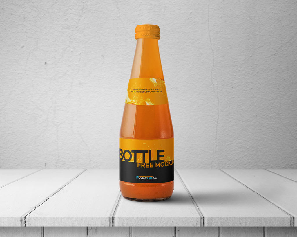 Set of Beverage Bottle Mockups