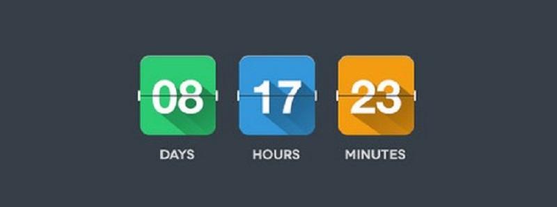 Flat Flip Clock