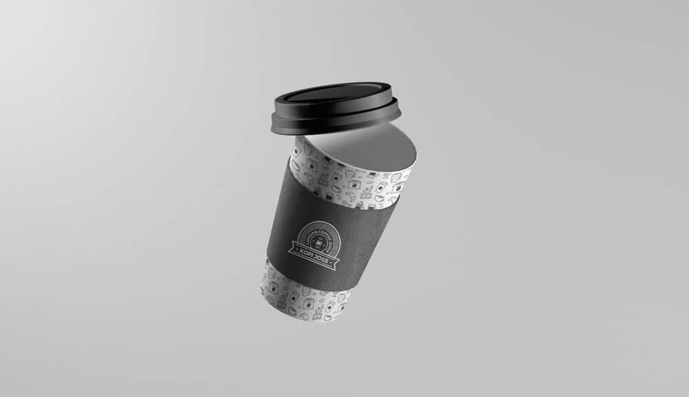 Floating Take-Away Coffee Cup Mockup