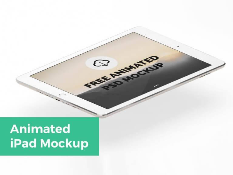 Animated floating iPad Mockup