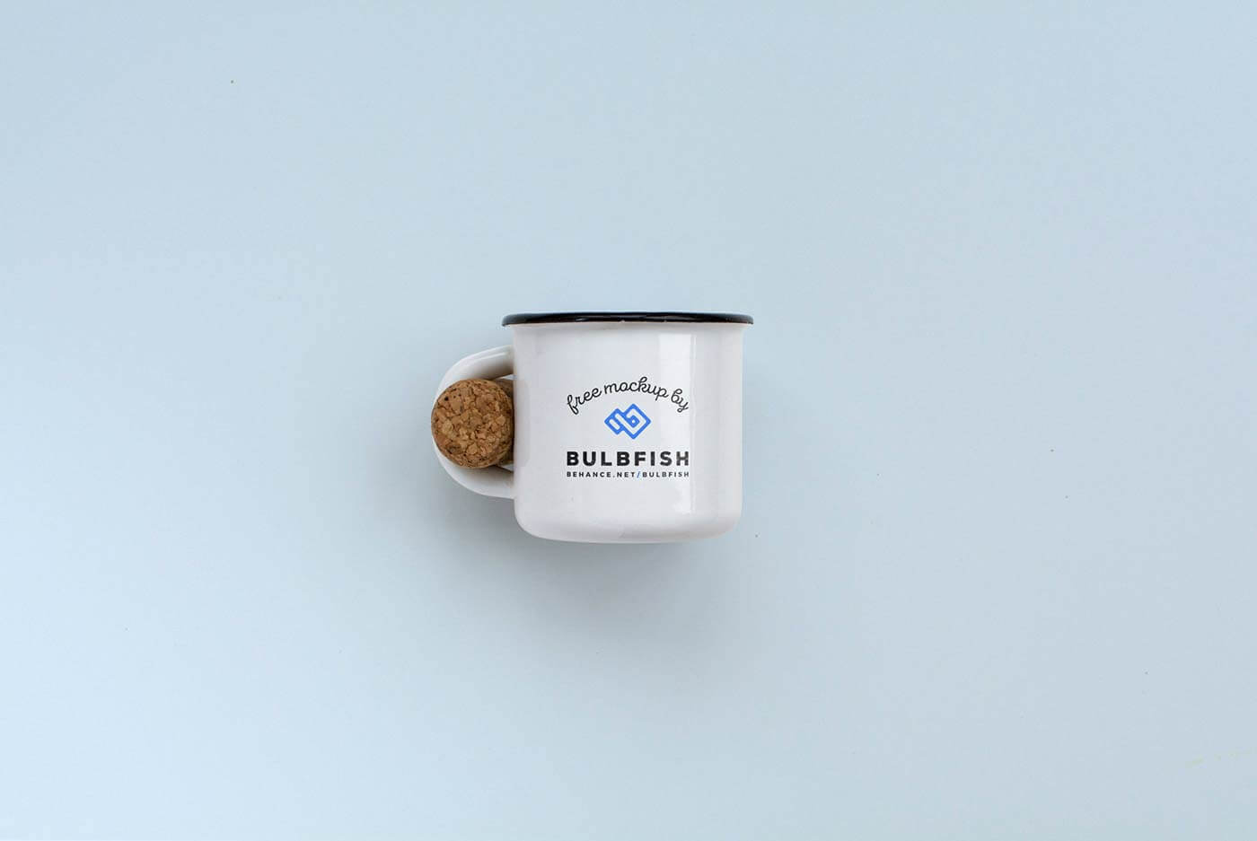 Two Enamel Cup Mockups