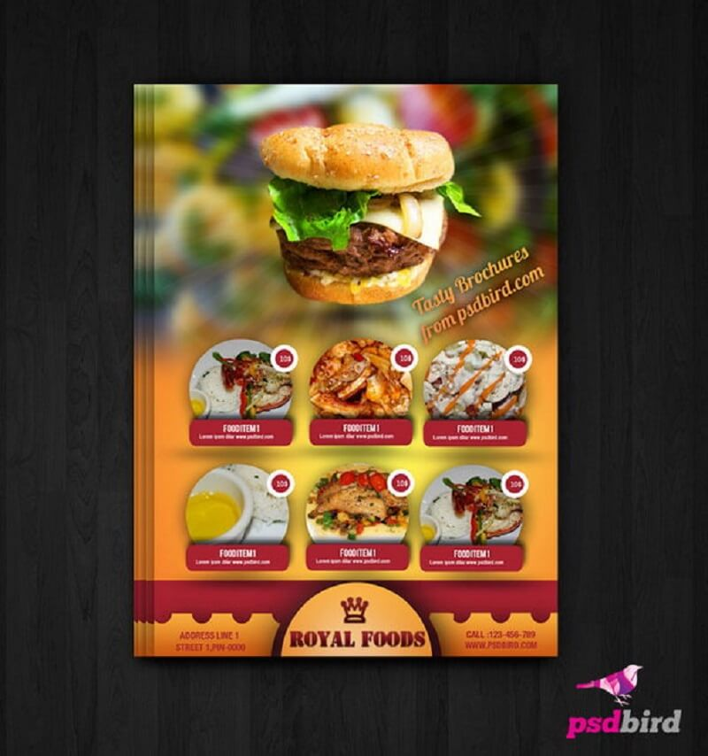 Free Hotel Menu Card/Flyer PSD