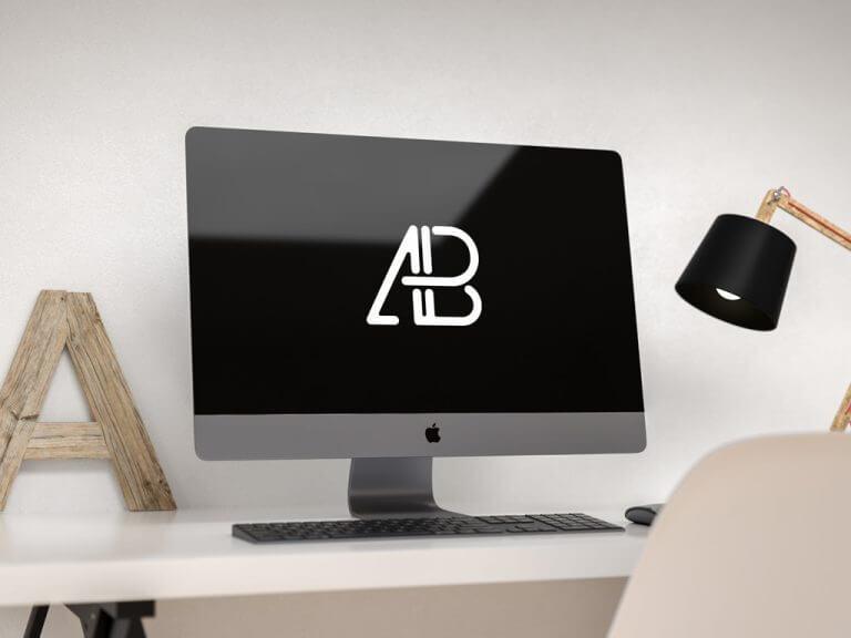 iMac Pro in Home Office Mockup