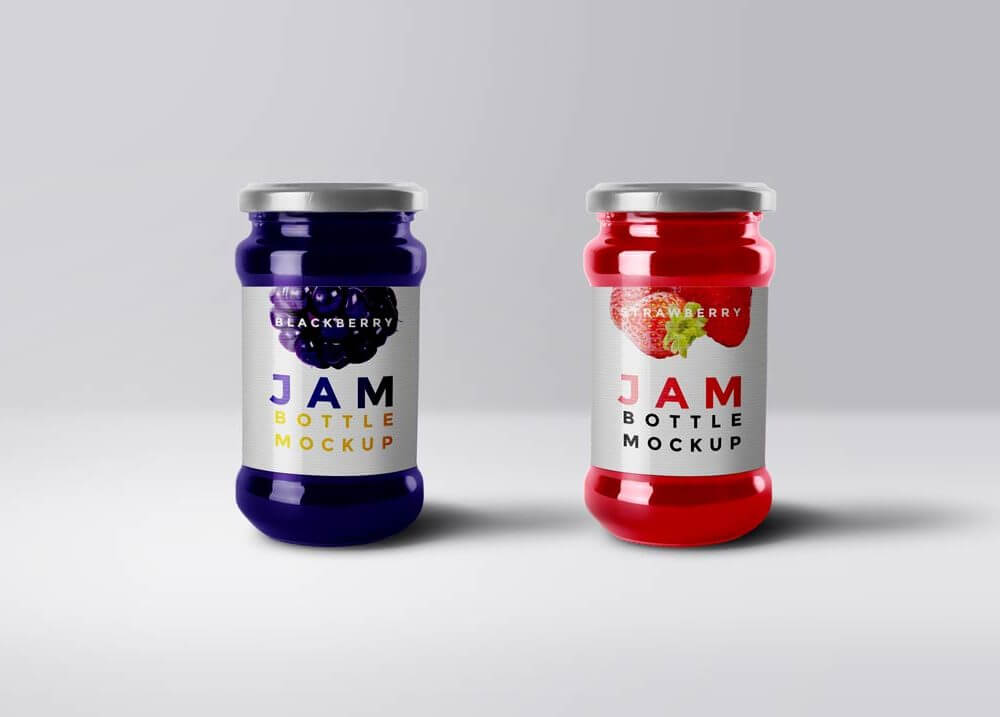 Jam Glass Mockup