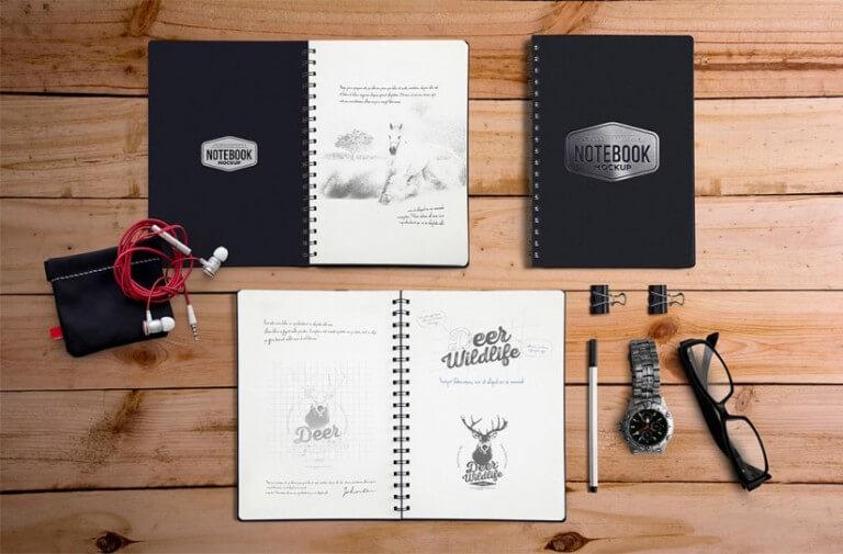 Notebook Stationary Mockup