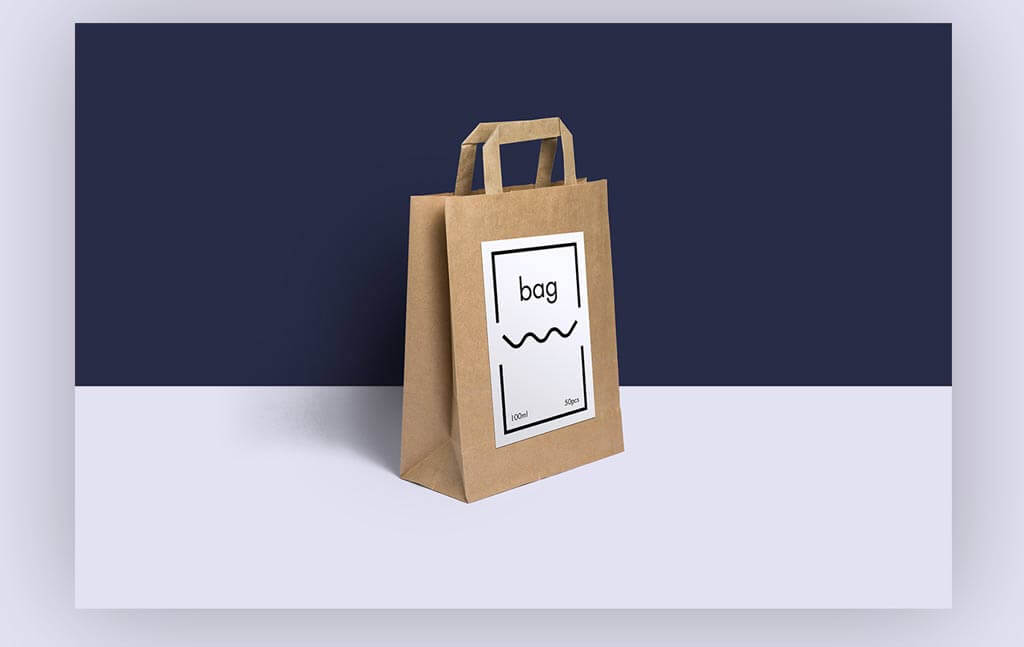 Customizable Paper Bag Mockup