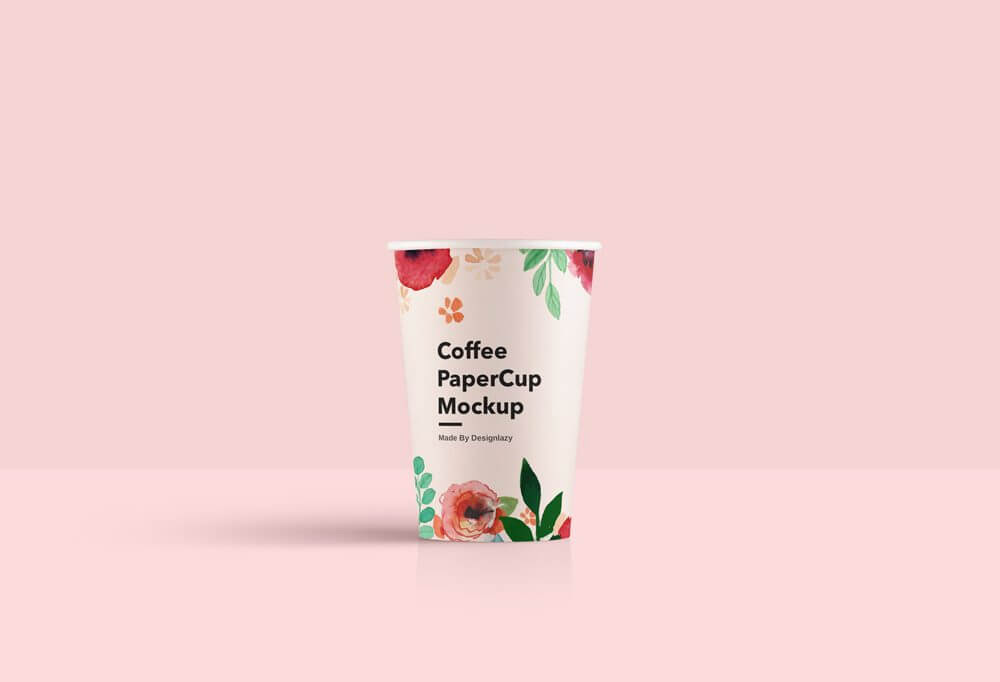 Clean Paper Cup Mockup