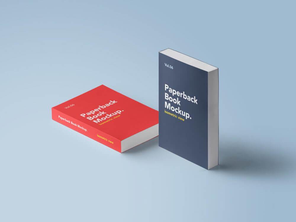Paperback Books Mockup