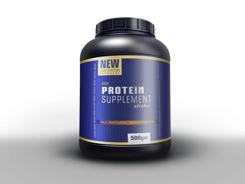 Protein Powder Supplement Packaging Mockup