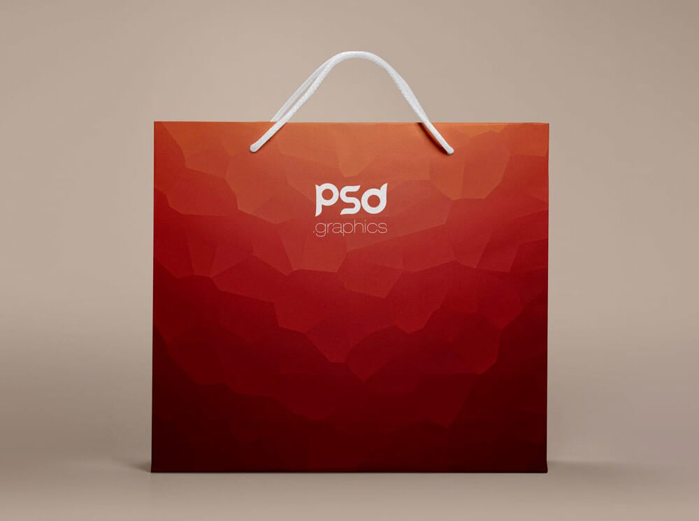 Clean Paper Shopping Bag Mockup