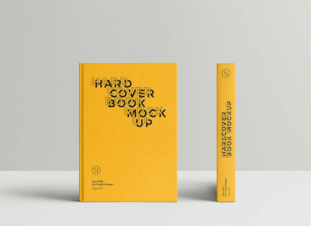 Standing Hardcover Book Mockup