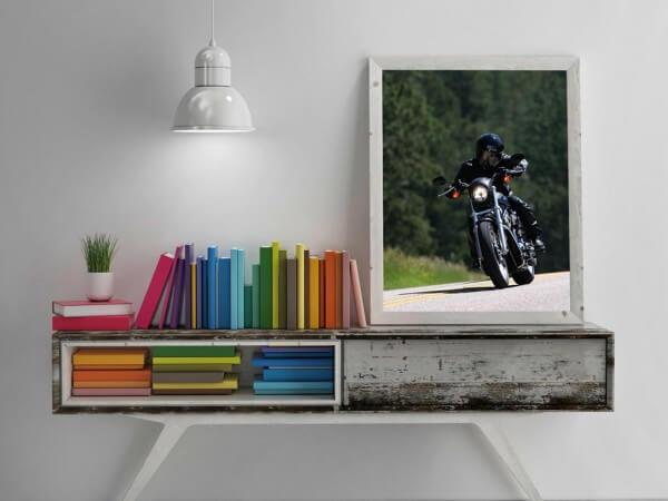Wooden Frame Picture Presentation Mockup