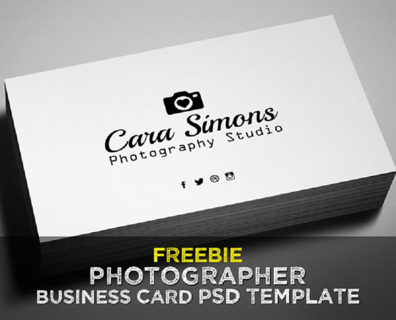 Freebie – Photographer Business Card PSD Template