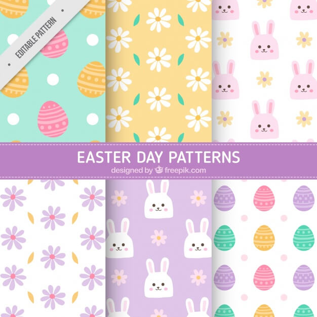 Great pack of decorative patterns for easter day