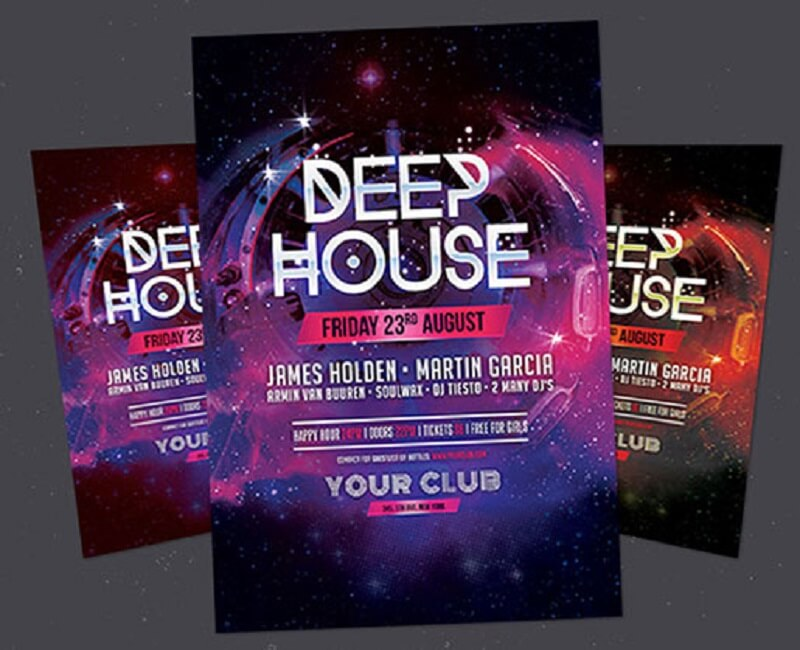 Deep House Flyer