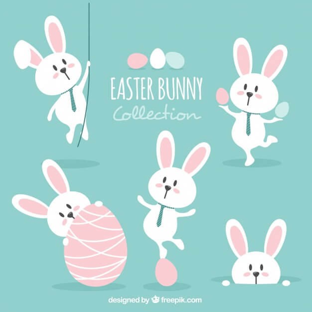Lovely easter bunny set