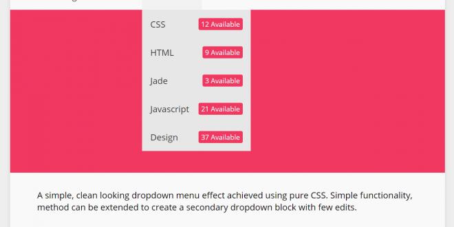 CSS Menu