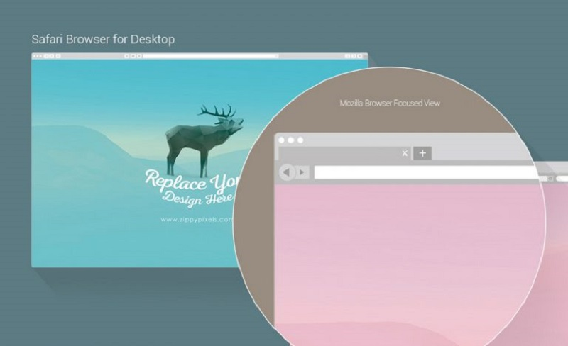 7 Free Vector Web & Mobile Browser Mockups