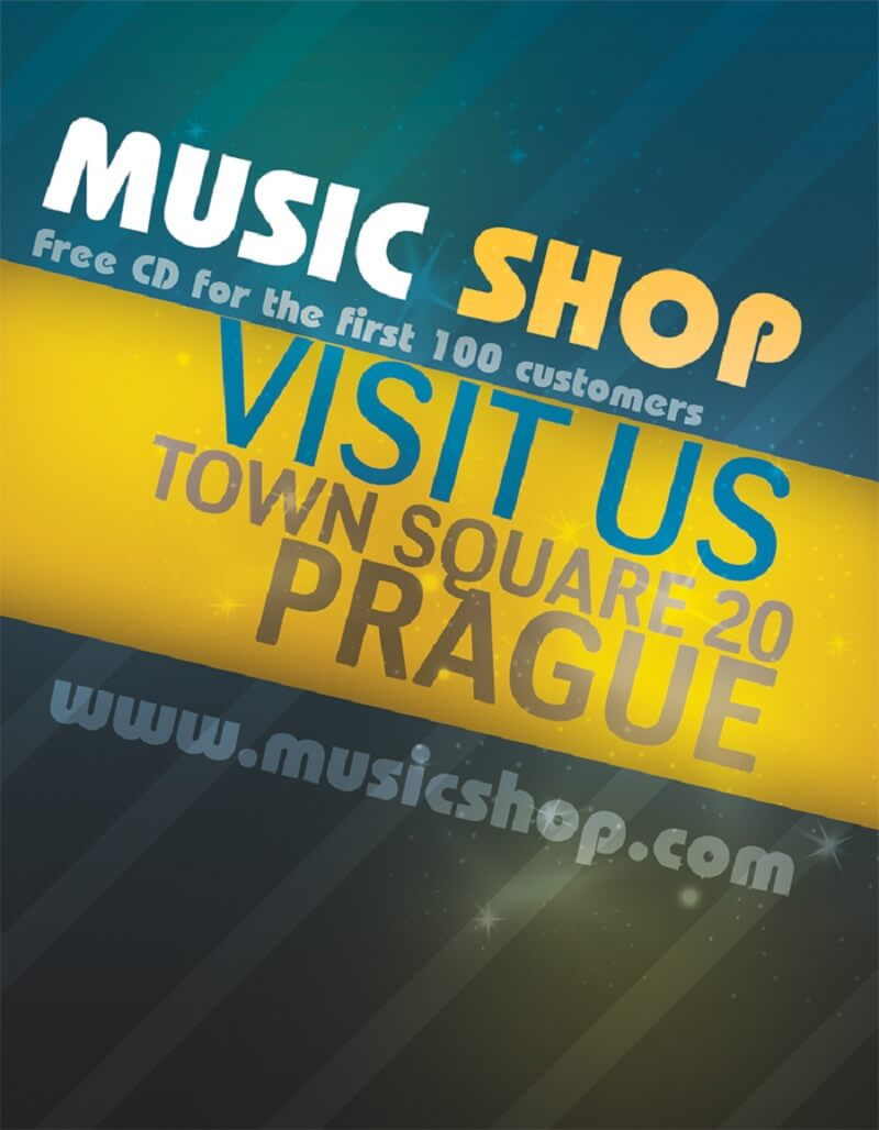 Music Shop Flyer PSD