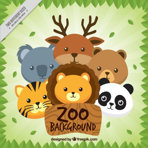 Nice animals zoo background