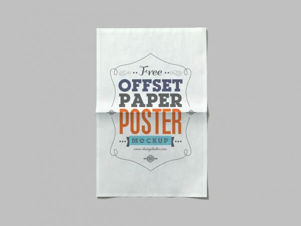 Offset Paper Poster Mockup