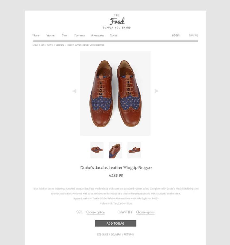 Online Store Web Design PSD | Freebie