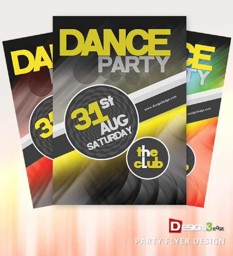 Party Flyer Design PSD