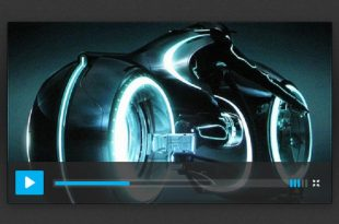 Free Music/Video Player UI PSD Templates