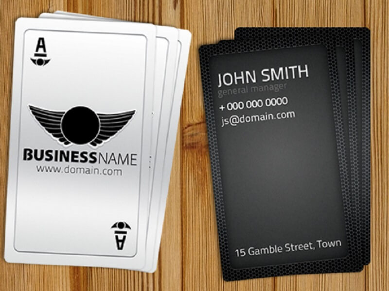 Playing Card Business Card Free Template