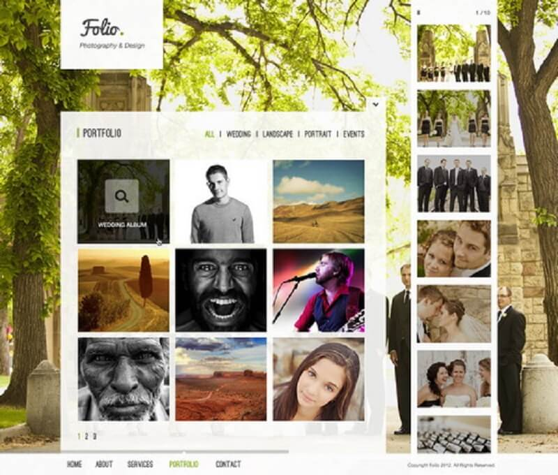 Folio Photography PSD Template