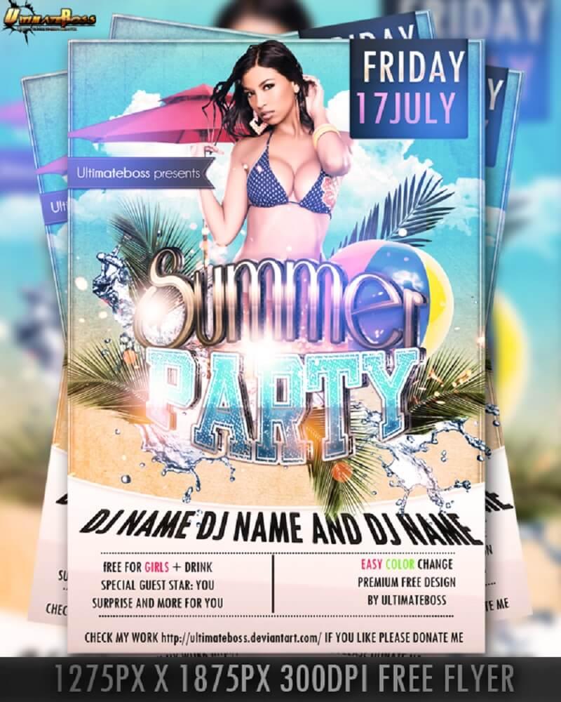 PSD Premium Free Summer Flyer