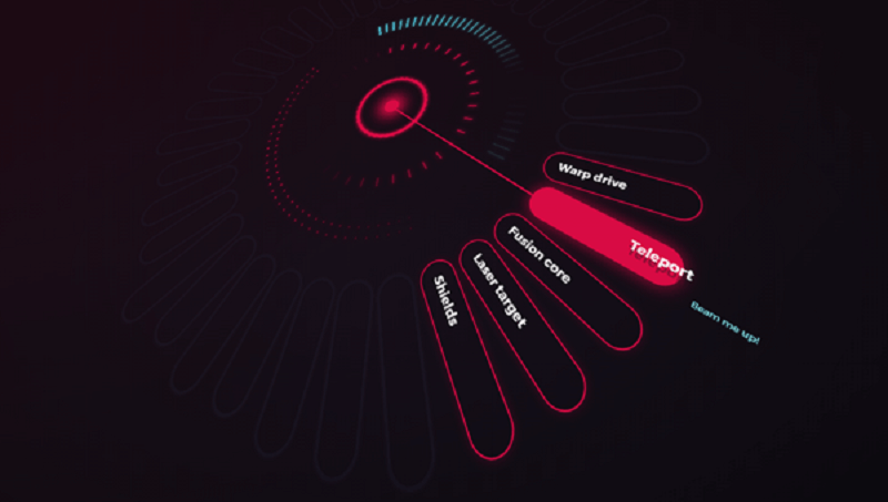 Warp Drive! A pure CSS 3D Radial Menu
