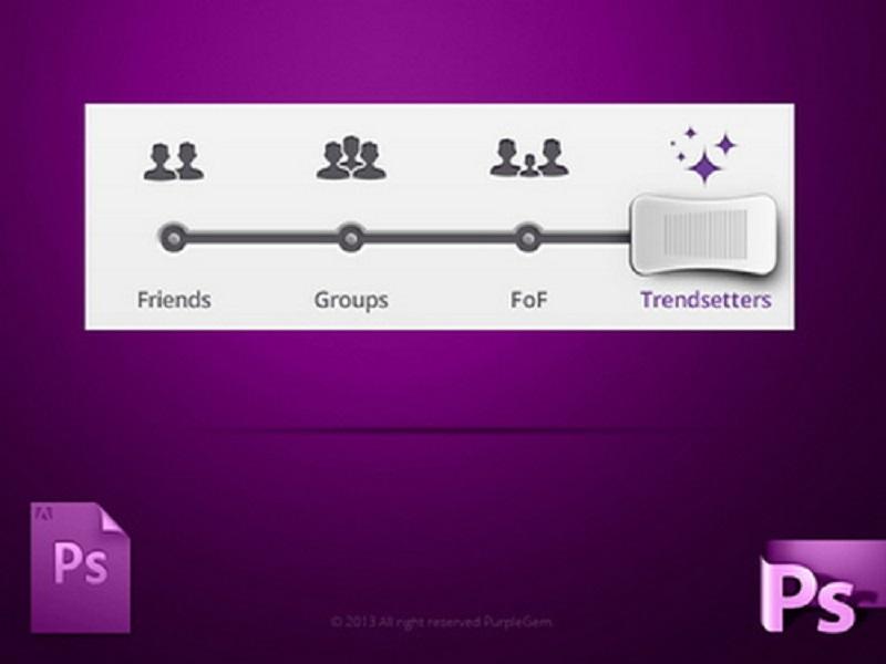 PurpleGem DJ slider PSD